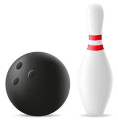 bowling ball and skittle vector image