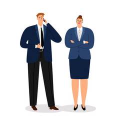 business couple young executive businessman and vector image