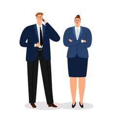 Business couple young executive businessman vector