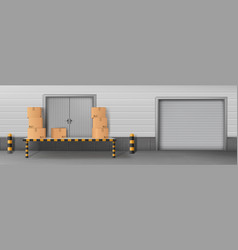 Business delivery warehouse closed entrance vector