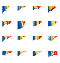 chad flag on a white vector image