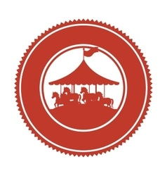 Circus horse entertainment icon vector