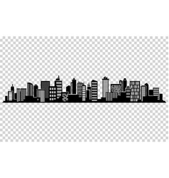 city silhouette vector image