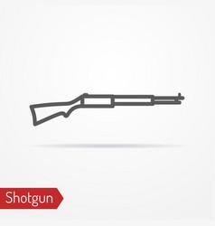 classic hunter rifle silhouette icon vector image