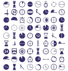 clock icon on white vector image