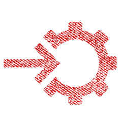 Cog integration fabric textured icon vector