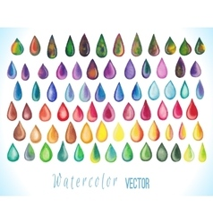 Colorful rainbow drops vector