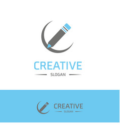 company logo and typography with elegent design vector image