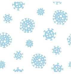 coronavirus seamless hand drawn pattern vector image