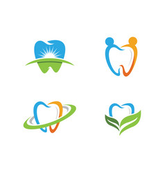 dental logo template icon vector image