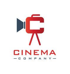 design film logo with letter c vector image