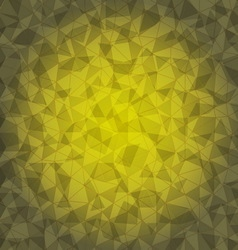 Design yellow triangle crack background vector image