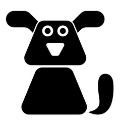 Dog icon black color flat style simple image vector