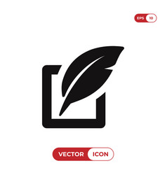 Edit icon isolated on white background modern vector