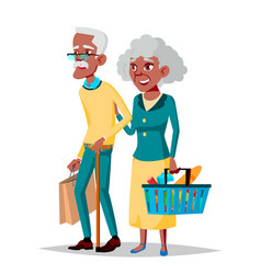 Elderly couple grandpa with grandmother vector