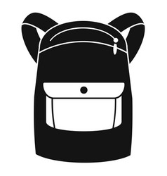 emmo backpack icon simple style vector image