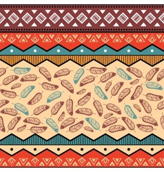 ethnic tribal pattern background vector image