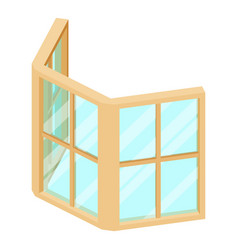 facade window frame icon isometric 3d style vector image