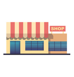 flat design shop facade icon stylized vector image