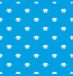good tooth pattern seamless blue vector image