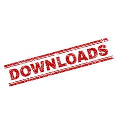 Grunge textured downloads stamp seal vector