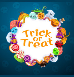 halloween trick or treat horror party candy sweets vector image