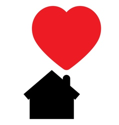 Home full of love concept icon vector