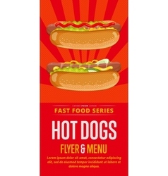 Hot dog sale flyer vector