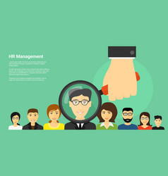 human resource management vector image