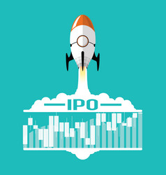 ipo or initial public offering corporate stock vector image
