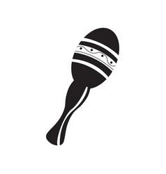 isolated maraca toy icon vector image