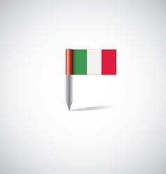 Italy flag pin vector