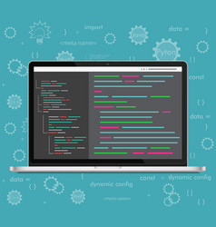 laptop coding concept Web developer vector image
