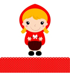 Little Red riding hood with basket vector image