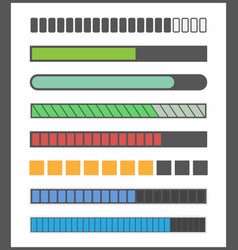 loading bar progress vector image