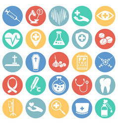 medical icons set on background vector image