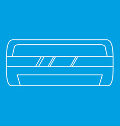 Modern air conditioner icon outline style vector