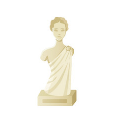 museum object stone sculpture woman vector image