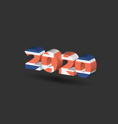 New year sign with united kingdom flag texture vector