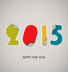 New Years wishes as colored stickers background vector image