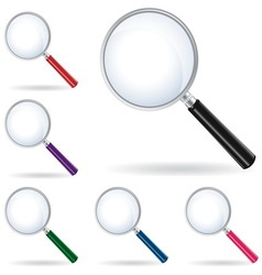 pack magnifying glass isolated vector image