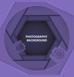 Photography 3d abstract background with paper cut vector