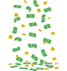 Raining cash vector