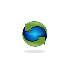 recycle global logo vector image