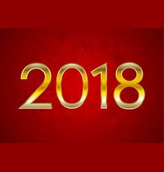 red new year 2018 abstract background vector image