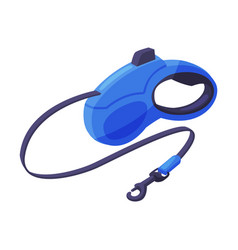 Retractable leash for dog pet animal accessory vector