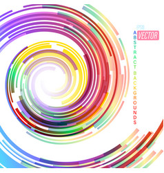 Rotating colors shapes scene on a white vector