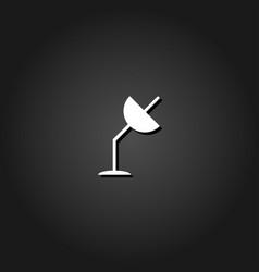 satellite antenna icon flat vector image