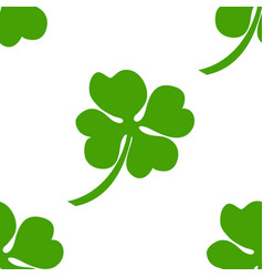 seamless background irish clover vector image