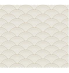 seigaiha japanese monochromatic pattern vector image